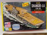 The Lindberg Line U.S.S. Shangri-La CVA-38 SCB-125 Deck Refit HL442/12 model kit 1:900 scale
