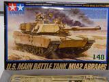 Tamiya U.S. Main Battle Tank M1A2 Abrams model kit 1/48 Military Miniature Series No. 92
