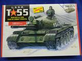 The Lindberg Line U.S.S.R. T-55 Main Battle Tank Char de Compact Principal HL415/12 model kit 1:35