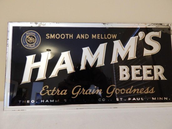 Hamm's Beer Blue Smooth & Mellow Extra Grain Goodness Mirror