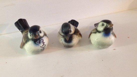3 Goebel bird figurines.  CV79, CV 72, CV 74.