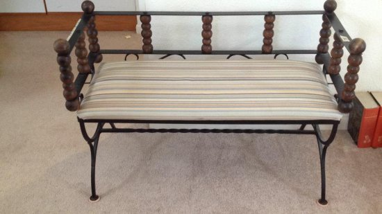 Iron settee or entry bench.