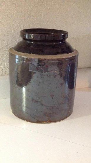 Vintage brown crock without lid.
