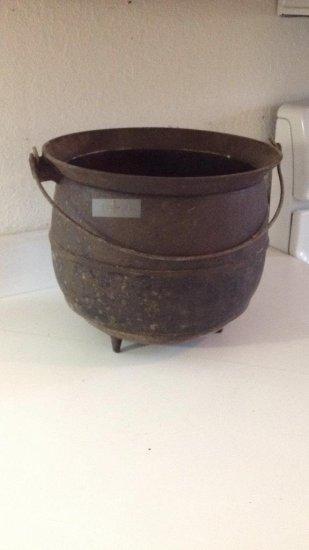 Vintage cast-iron pot.