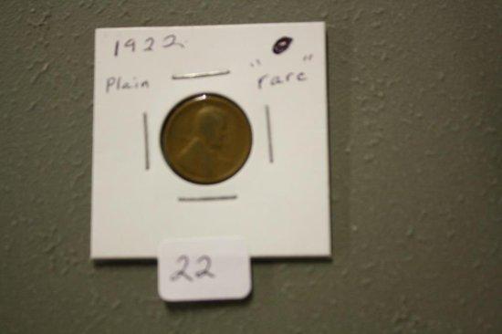 1922 Plain Penny Rare Error Coin