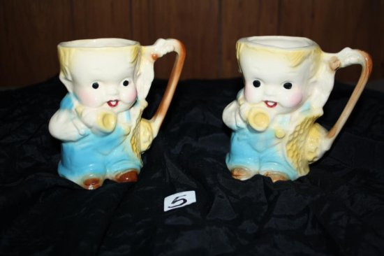 Pair Of Tom Thumb Mugs