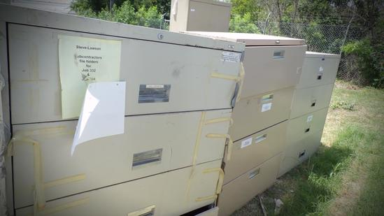 (5) Lateral Misc File Cabinets