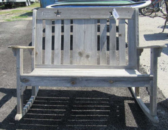 """Double Rocking Bench Seat - 45"""" Seat Width"""