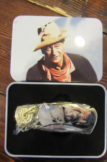 John Wayne Folding Knife in Tin
