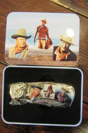 John Wayne Trio Folding Knife in Tin