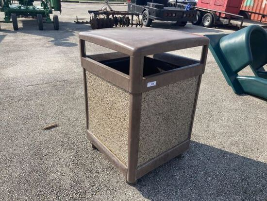 Stone Panel Outdoor Trash Can