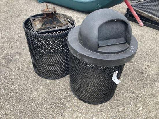 2pc Playground Waste Baskets