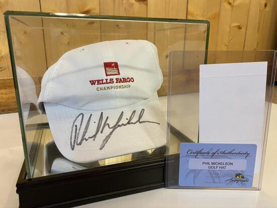 Phil Mickelson Autographed & Certified Hat