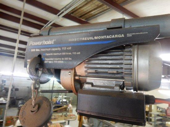 Power Hoist Electric Powered Hoist Mod: H500 500Lbs w/Pole & Bracket *(Brin