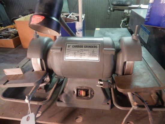 """(6"""") Carbide Grinders 1 HP 115V RPM: 3450"""