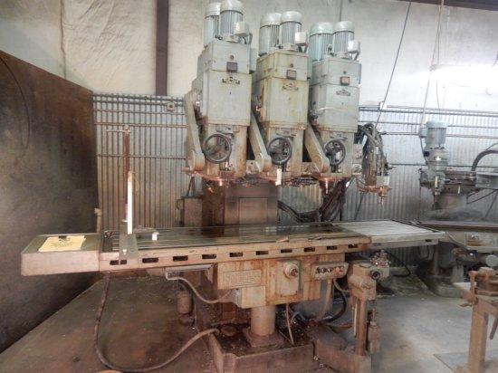 Rambaudi Ram Corp Italian Union Machine Builders Mod:68682 Triple Spindle M