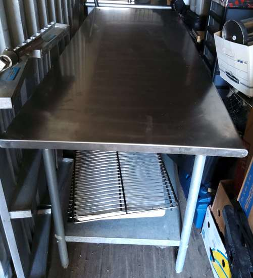 Stainless steel 2-drawer work area