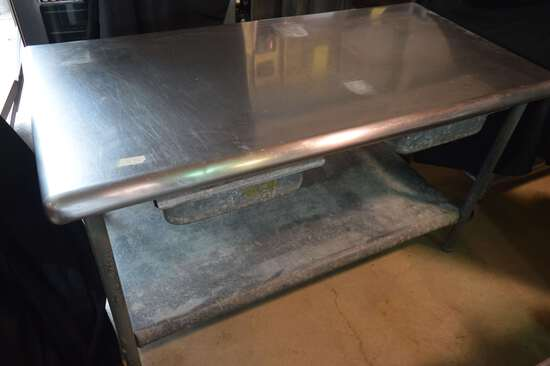 Stainless Steel Work Table; 2 Drawers