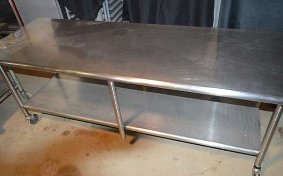 Stainless Work Table On Wheels, Has Suff Marks
