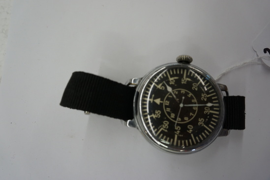 """Belived by Auctioneer to be a Copy of German Air Force Observers Watch, Works, 2"""" Diameter"""