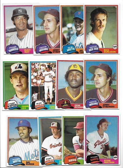 Lot of (20) Vintage 1981 Topps Baseball Cards