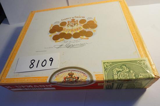 "H. Upmann Lonsdales Cigar Box (Dominican Republic) 7""x8.5"", Estate Find"