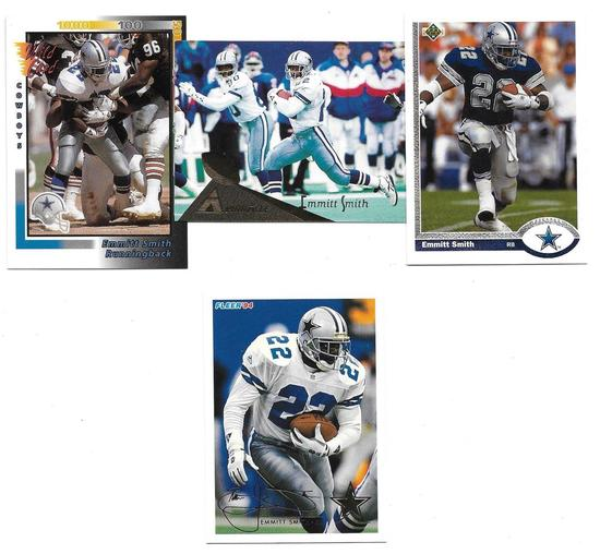 Four Card lot of Hall of Famer Emmitt Smith