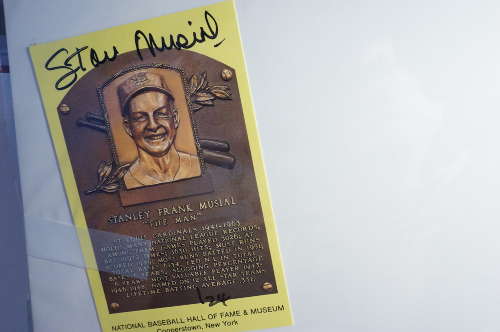 Stan Musial Signed Gold HOF Card, NO COA, Estate Item, Auctioneer Guarantees 100% Authentic.