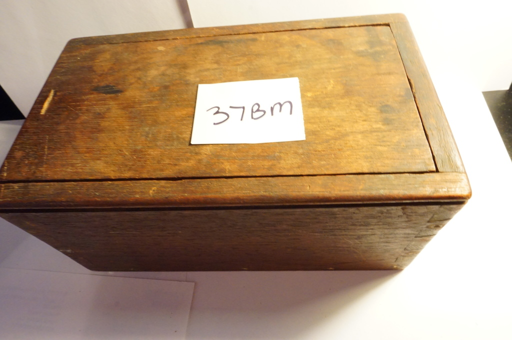 Very Old Mahogany Box with Sliding Top, Dove Tail Construction, Very Nice Estate Find, 19th Century