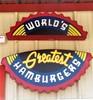 Fuddruckers Hamburger Sign
