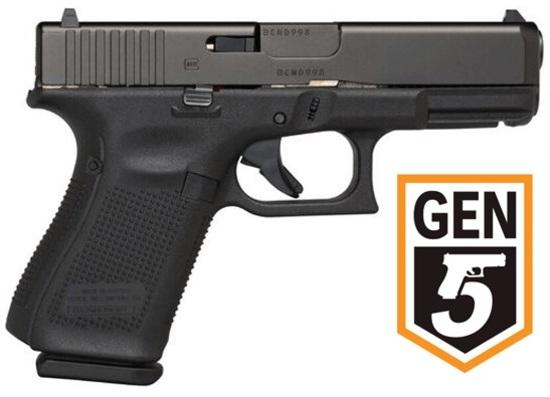 GEN5 NEW IN BOX: GLOCK 19 GEN5 9MM FIXED 3-15RD MFG ITEM #: PA1950203