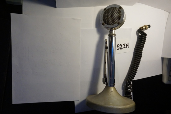 Vintage Astatic Lollipop Microphone, Untested, no bottom plate, Conroe, Texas Estate Fiind.