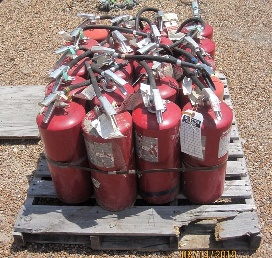 Lot of 20 Fire Extinguishers