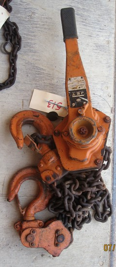 Jet 6 Ton Lever Hoist, Reserve is Off! This Item Will Sell!