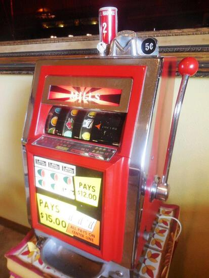 Pick-Up ONLY! NO Shipping: 1967 Mills Bell-O-Matic Tabletop Slot Machine, Works, Estate Find