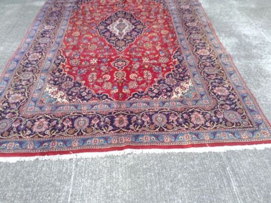 """7'4""""x11'4"""" KASHAN Hand Tied Persian Rug, Hand Knotted Carpet, Retail Value $7600. $75 Shipping"""