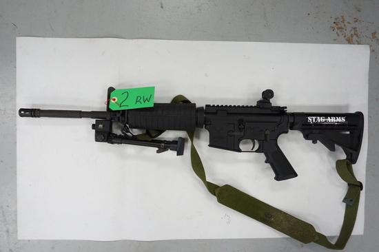 League City, Texas Estate: USED STAG ARMS AR-15, 5.56NATO, Adj. Stock, Bi-Pod, Serial # 172665