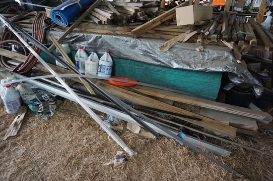 PILE: 35+ Sheets of OSB Board and other boards shown in photo