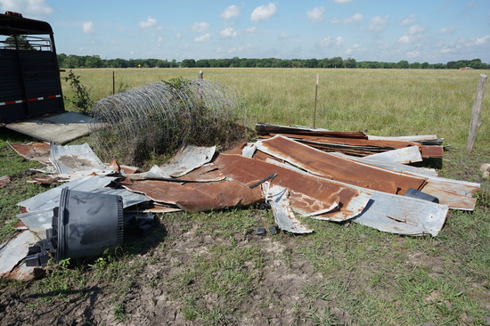 Pile of Old Tin and Fencing