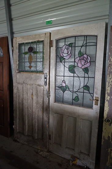 TWO Doors For One Money: Both are Leaded Glass, Very Fine Pair!