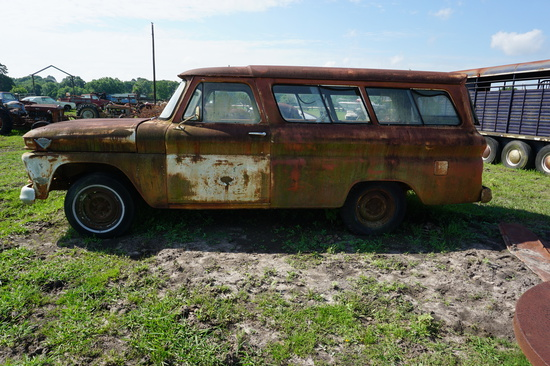 1966 GMC Suburban, NOT RUNNING. We have Title on Premise, Photo of Title Shown