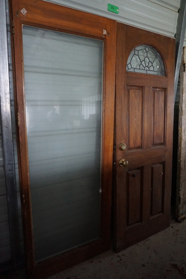 TWO Doors For One Money: Full Glass and Leaded Glass
