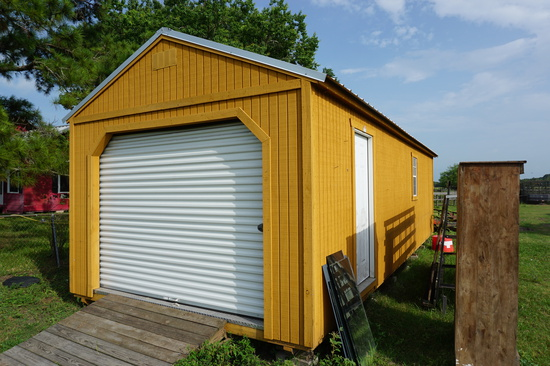 Mustard Colored Like New Portable Building, 12'x32', Recently Purchased for $6995, Buyer Responsible