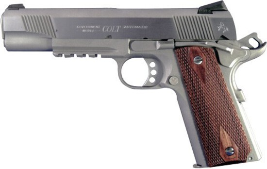 COLT GOVT 9MM RAIL GUN FS STAINLESS 9-SHOT, NEW IN BOX, FFL Cost $1021