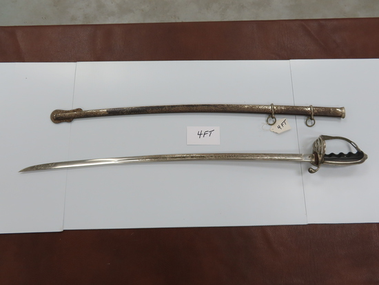 "U.S. Army Presentation Sword, Post WWI - Pre WWII, 30"" Whitney & Co. Providence Rhode Island"
