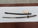 Frydek Texas Estate Find: WWII Japanese NCA Sword, Matching #s, Cast Aluminum Hilt, 27