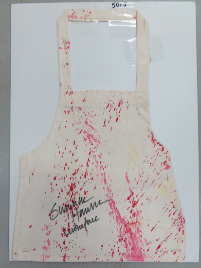 "Happy Halloween, 11""x17 Apron Signed by Gunnar Hansen - deceased (Texas Chainsaw Masacre)"