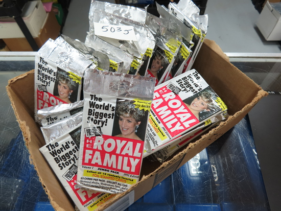 Thirty-Six (36) Packs: 1993 press pass The Royal Family. thirteen cards per pack.