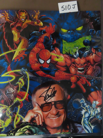 "10.5"" x 13"" Signed Stan Lee Photo (cut down, odd size)."