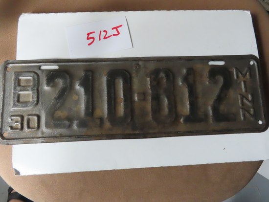 "14.5""x4.5"" 1930 Minnesota License Plate"